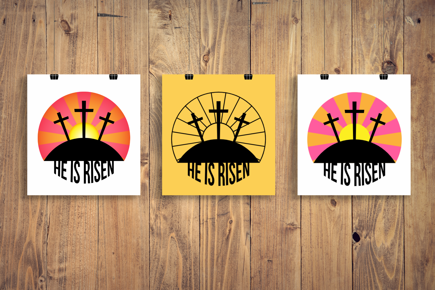Download Free Easter He Is Risen Graphic By Risarocksit Creative Fabrica for Cricut Explore, Silhouette and other cutting machines.