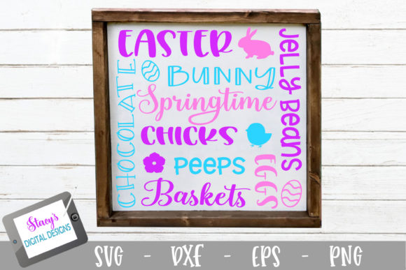 Download Free Easter Subway Art Graphic By Stacysdigitaldesigns Creative Fabrica for Cricut Explore, Silhouette and other cutting machines.