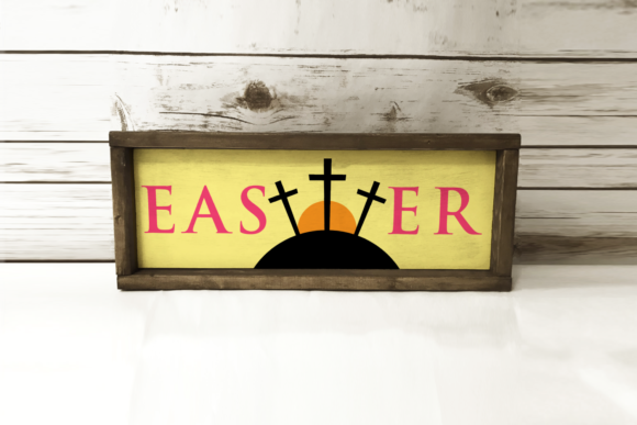 Easter Sunrise Cross Sign Graphic Crafts By RisaRocksIt