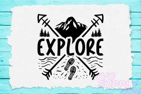 Download Free Explore Mountains Graphic By Svgsupply Creative Fabrica for Cricut Explore, Silhouette and other cutting machines.