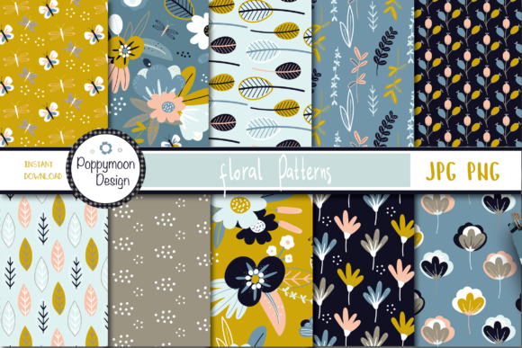 Print on Demand: Floral Patterns Graphic Patterns By poppymoondesign