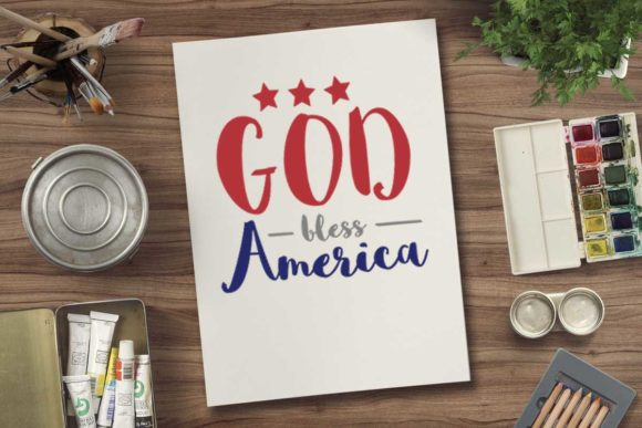 Print on Demand: God Bless America Graphic Crafts By svgsupply