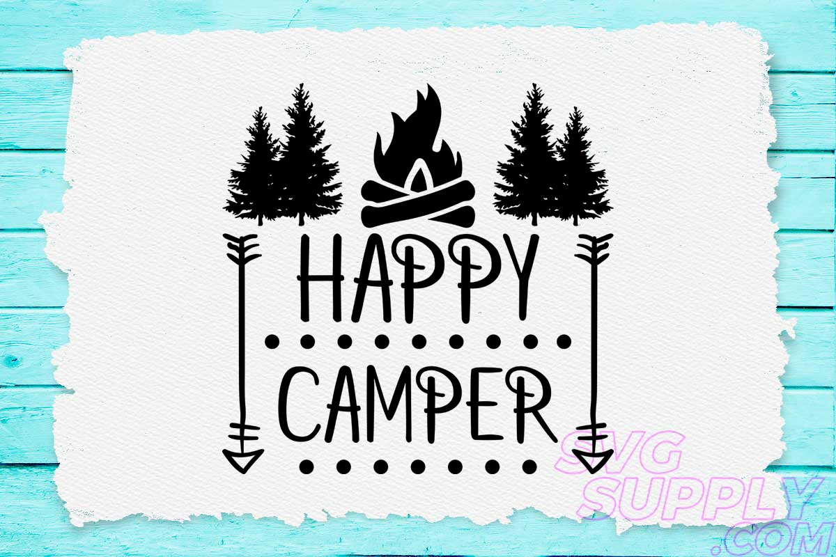 Download Free Happy Camp Graphic By Svgsupply Creative Fabrica for Cricut Explore, Silhouette and other cutting machines.