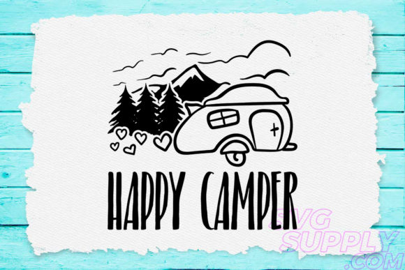 Download Free Happy Camper Graphic By Svgsupply Creative Fabrica for Cricut Explore, Silhouette and other cutting machines.
