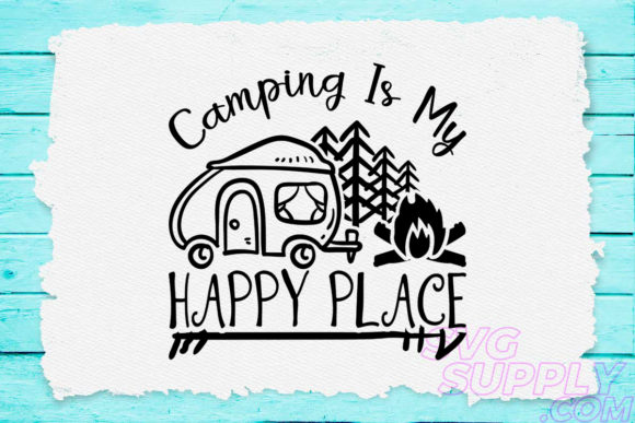 Print on Demand: Happy Camping Graphic Crafts By svgsupply