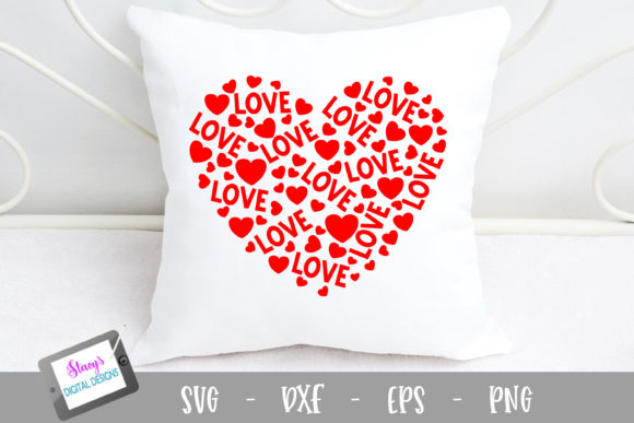 Heart of Love Graphic Crafts By stacysdigitaldesigns