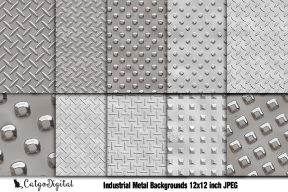 Download Free Industrial Metal Scrapbooking Paper Graphic By Catgodigital for Cricut Explore, Silhouette and other cutting machines.