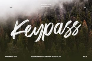 Download Free Keypass Font By Garisman Studio Creative Fabrica for Cricut Explore, Silhouette and other cutting machines.