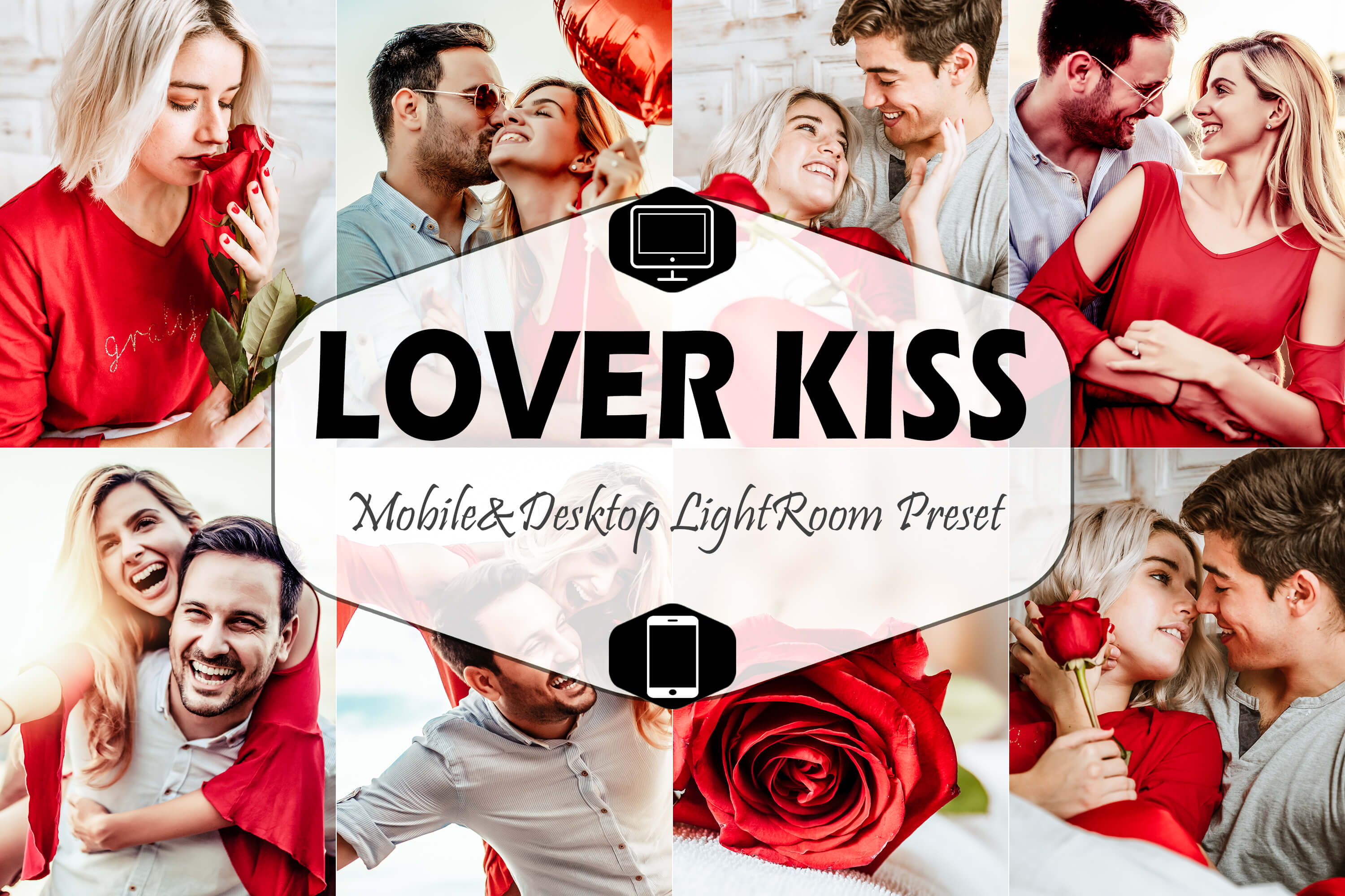 Download Free Lover Kiss Valentine Lightroom Preset Graphic By Mattte Studio for Cricut Explore, Silhouette and other cutting machines.