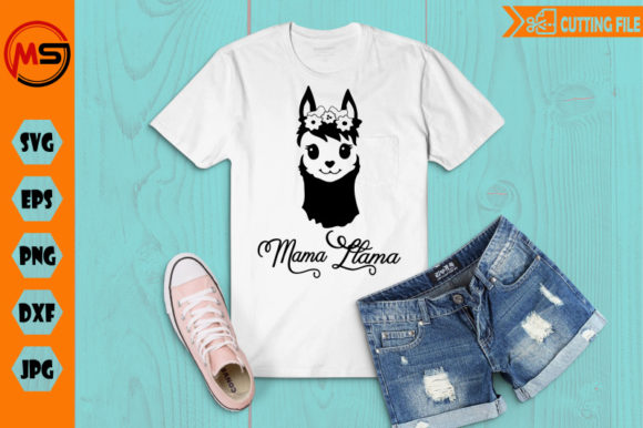 Download Free Mama Llama Graphic By Crafty Files Creative Fabrica for Cricut Explore, Silhouette and other cutting machines.