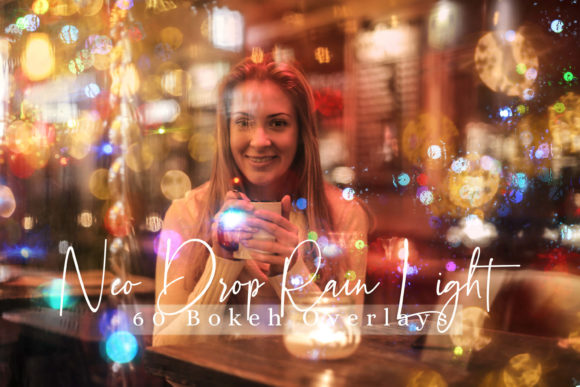 Download Free Neo Drop Rain Lights Effect Overlays Graphic By 3motional for Cricut Explore, Silhouette and other cutting machines.