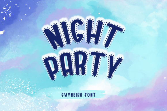 Print on Demand: Night Party Display Font By a.gwyneira