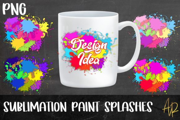 Print on Demand: Paint Splash Background Bundle Graphic Objects By Anayah's Room