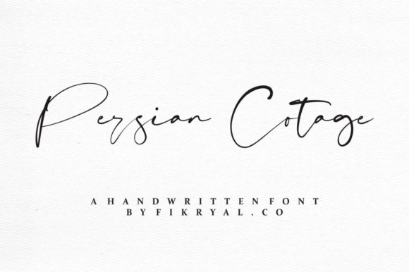 Print on Demand: Persian Cotage Script & Handwritten Font By mfikryalif