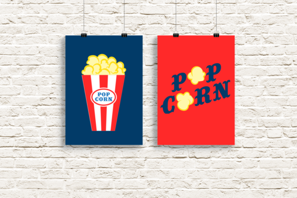 Popcorn Duo Graphic Crafts By DesignedByGeeks