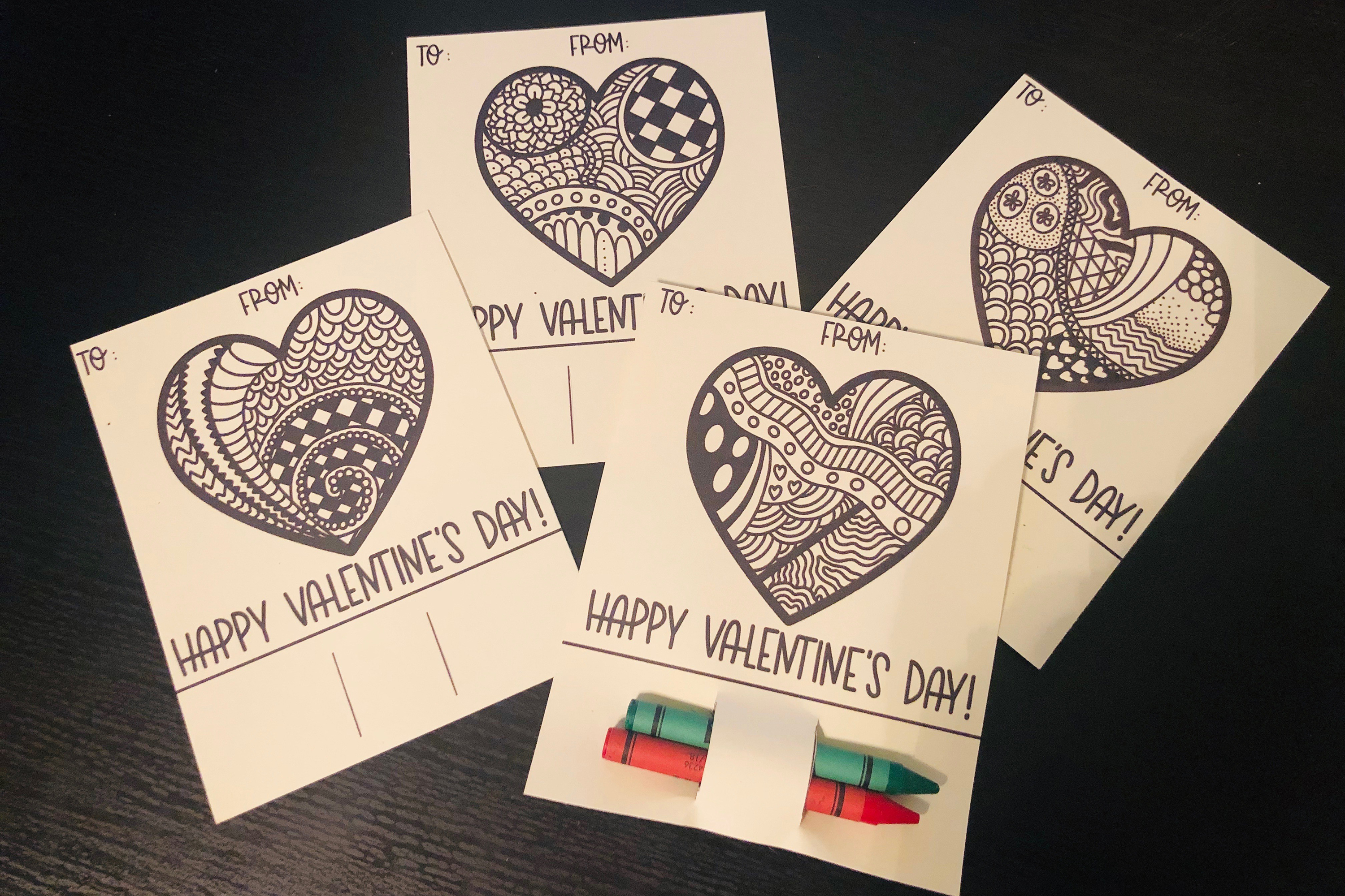 Download Free Printable Valentines For Kids Coloring Graphic By Adelinenco for Cricut Explore, Silhouette and other cutting machines.