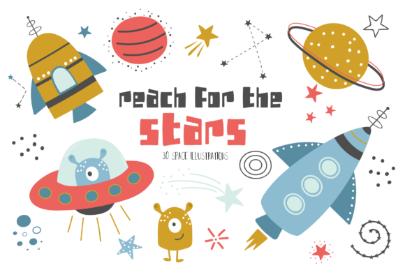 Print on Demand: Reach for the Stars Graphic Illustrations By poppymoondesign
