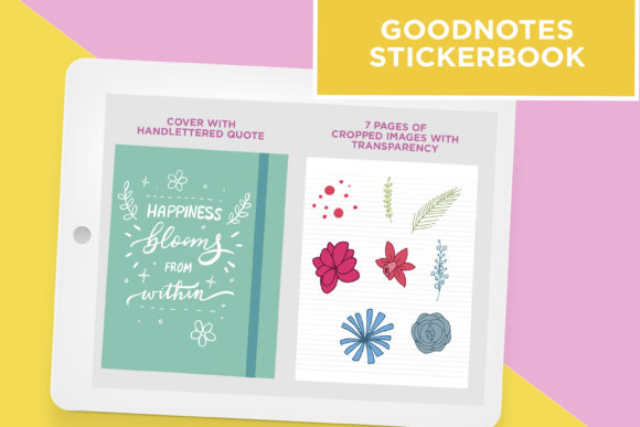 Spring Flowers Clip Art Stickers (Graphic) by Scilla ...