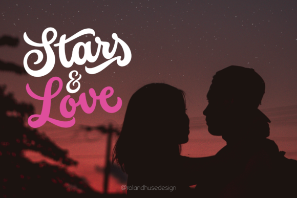 Print on Demand: Stars & Love Script & Handwritten Font By Roland Hüse Design
