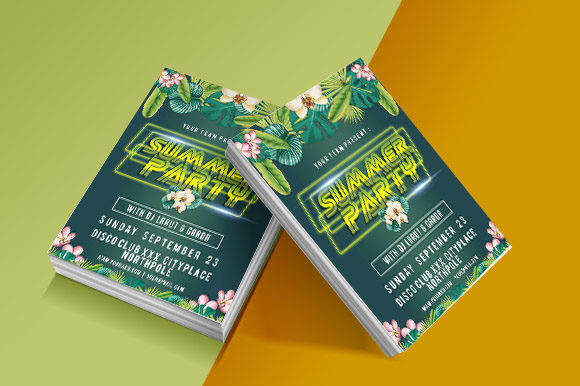Print on Demand: Summer Party Flyer Graphic Graphic Templates By derulostereo