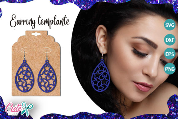 Tear Drop Earrings Template Graphic Illustrations By Cute files
