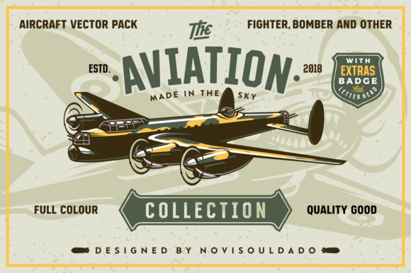 The Aviation Vector Pack Grafik Illustrationen von NoviSouldado