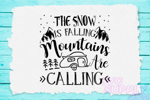 Download Free The Snow Is Falling Graphic By Svgsupply Creative Fabrica for Cricut Explore, Silhouette and other cutting machines.