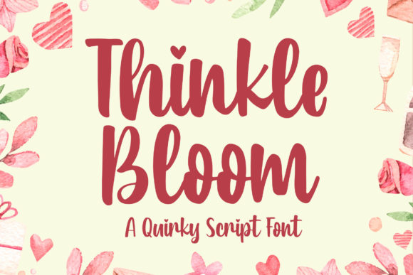 Print on Demand: Thinkle Bloom Script & Handwritten Font By Blankids Studio - Image 1