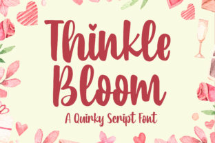 Print on Demand: Thinkle Bloom Script & Handwritten Font By Blankids Studio