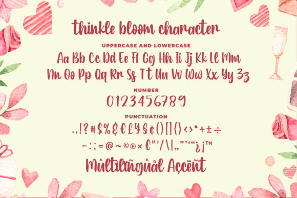 Print on Demand: Thinkle Bloom Script & Handwritten Font By Blankids Studio - Image 6