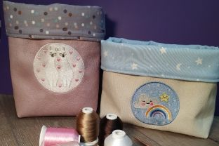 Create Your Own Cute Embroidery Baskets