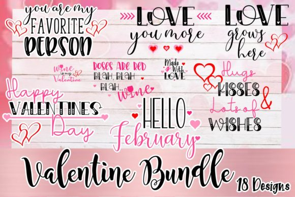 Print on Demand: Valentine Bundle Graphic Crafts By ReneesCreativeSVGs