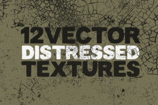 Print on Demand: Vector Distressed Textures X 12 Graphic Textures By SmartDesigns