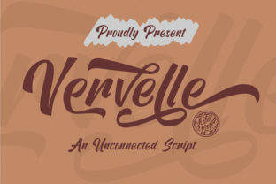 Print on Demand: Vervelle Script Script & Handwritten Font By astageni.std