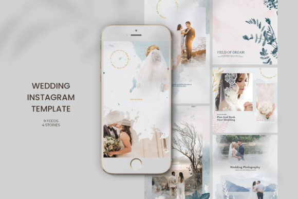 Download Free Wedding Instagram Templates Graphic By Qohhaarqhaz Creative for Cricut Explore, Silhouette and other cutting machines.