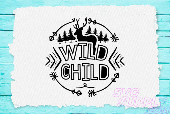 Download Free Wild Child Graphic By Svgsupply Creative Fabrica for Cricut Explore, Silhouette and other cutting machines.