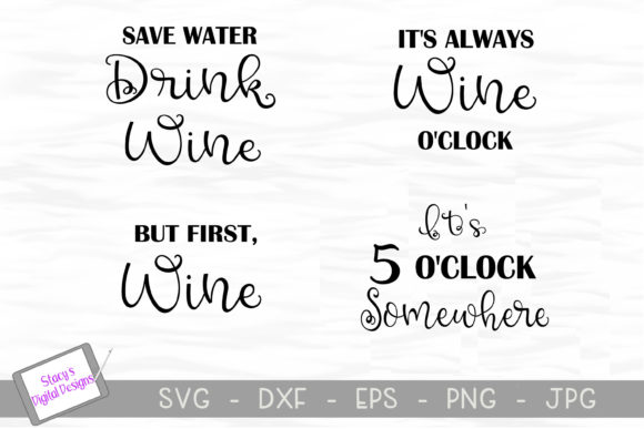Download Free Wine Bundle Graphic By Stacysdigitaldesigns Creative Fabrica for Cricut Explore, Silhouette and other cutting machines.