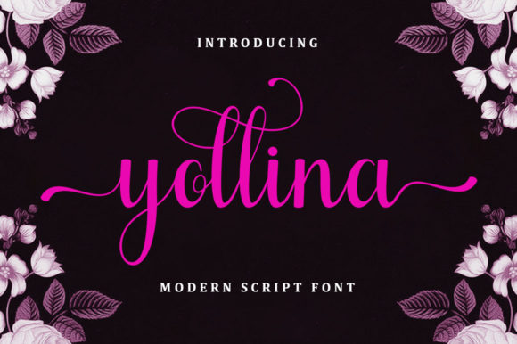 Print on Demand: Yollina Script & Handwritten Font By bungletter