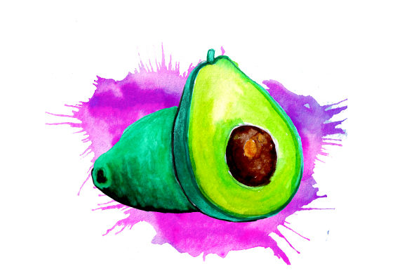 Download Free Avocado In Watercolor Paint Splatter Style Svg Cut File By for Cricut Explore, Silhouette and other cutting machines.