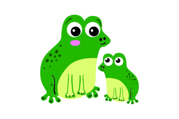 Mom and Baby Frogs Animals Craft Cut File By Creative Fabrica Crafts - Image 1