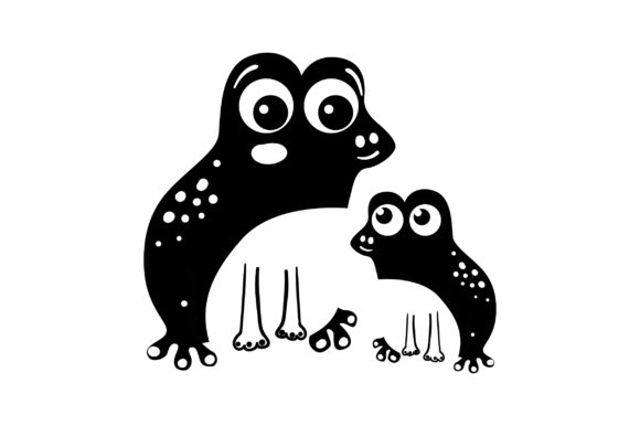 Mom and Baby Frogs Animals Craft Cut File By Creative Fabrica Crafts - Image 2