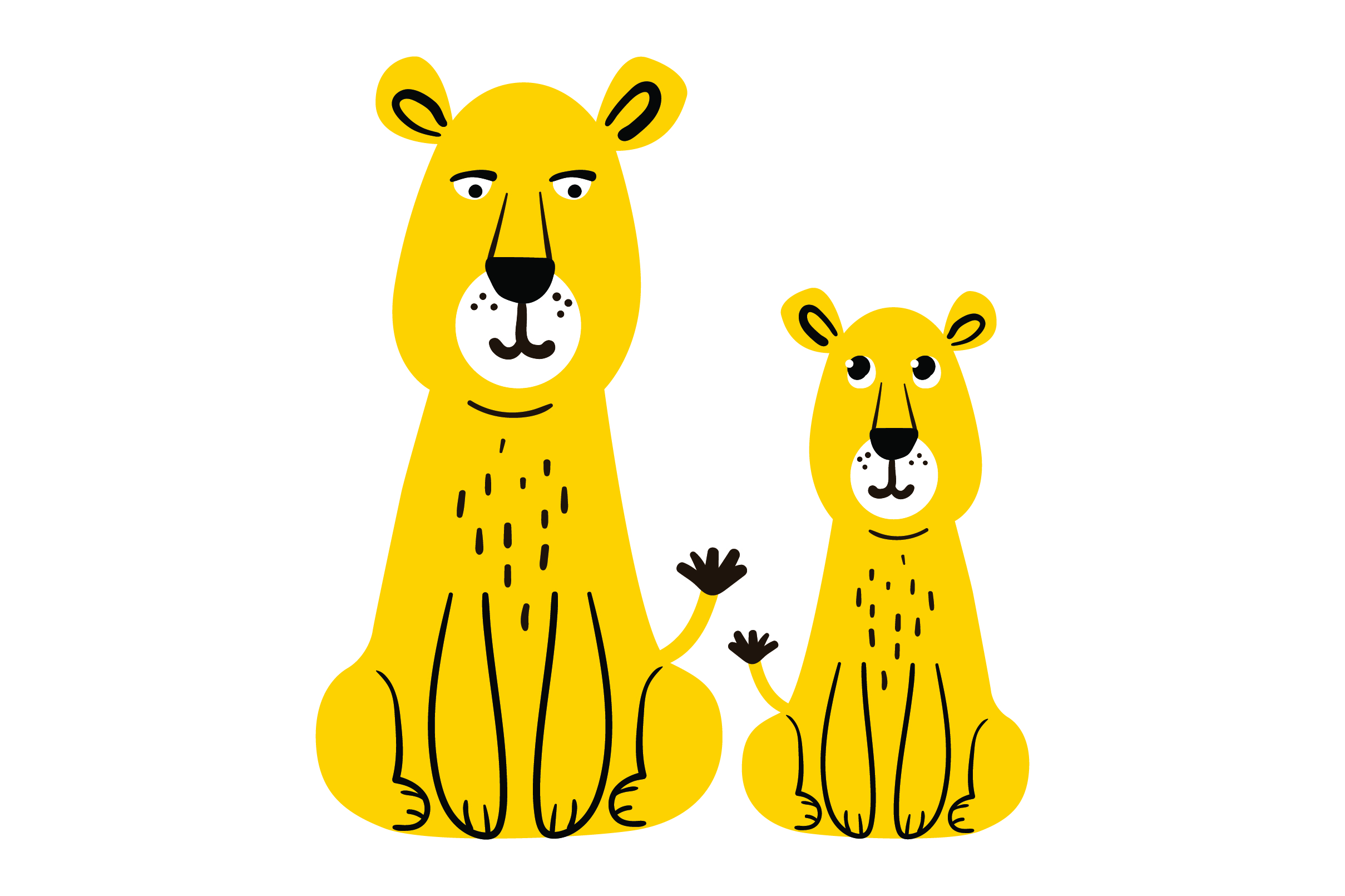 Download Free Mom And Baby Lions Svg Cut File By Creative Fabrica Crafts for Cricut Explore, Silhouette and other cutting machines.