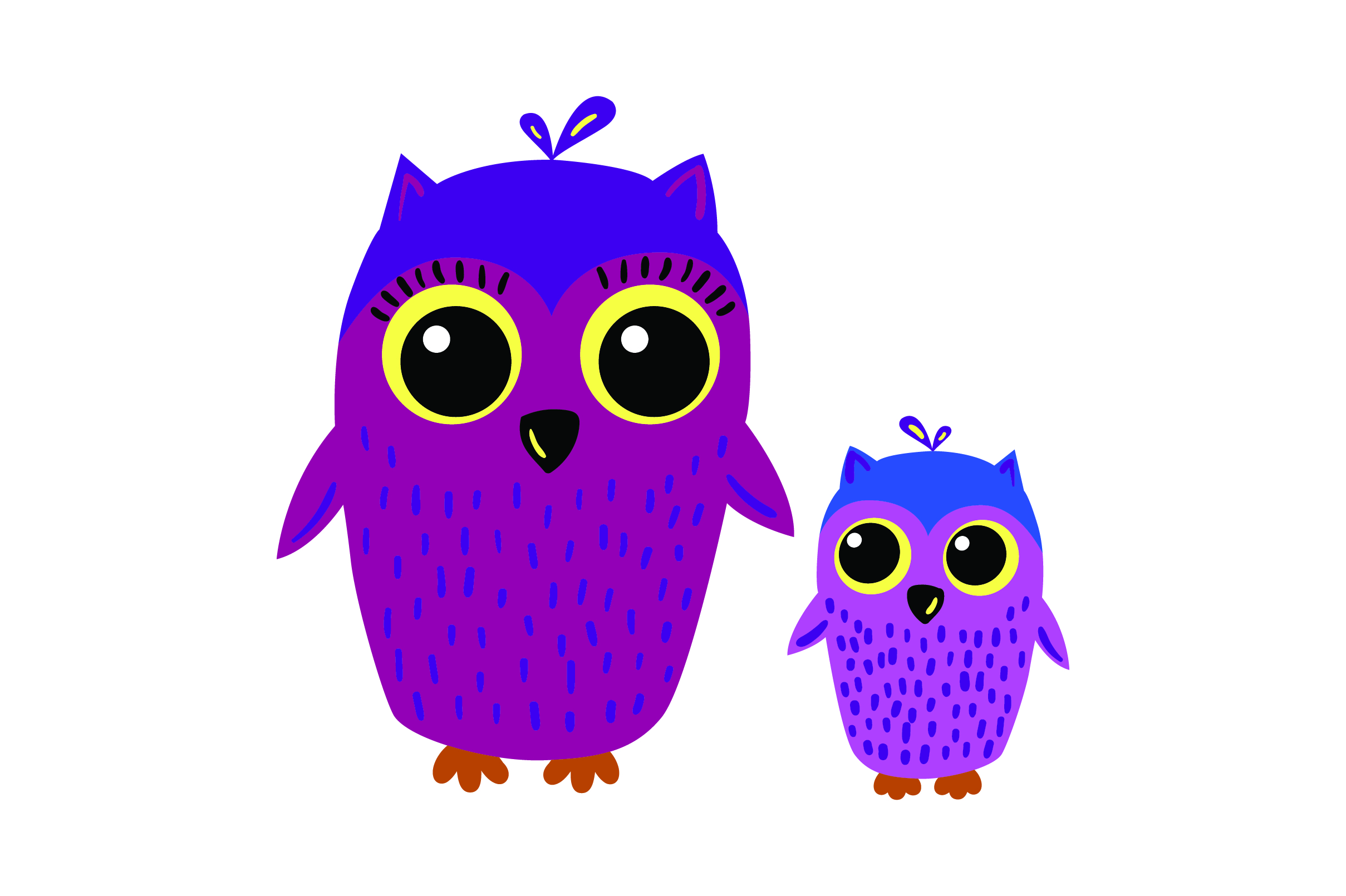 Mom And Baby Owls Svg Cut File By Creative Fabrica Crafts