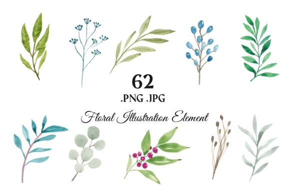 373 Flower Floral Watercolor Clip Art Graphic Illustrations By elsabenaa - Image 3