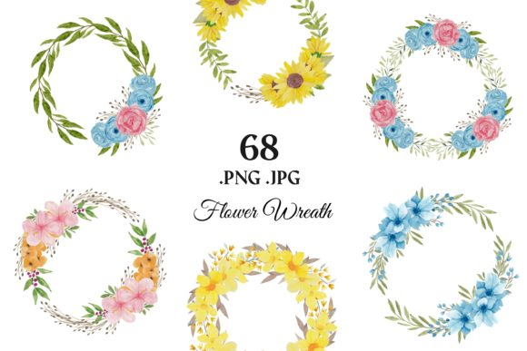373 Flower Floral Watercolor Clip Art Graphic Illustrations By elsabenaa - Image 4