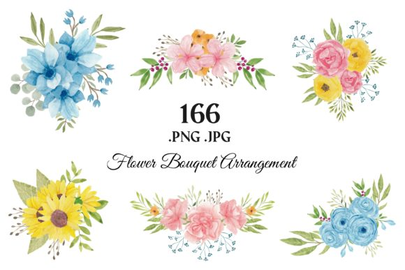 373 Flower Floral Watercolor Clip Art Graphic Illustrations By elsabenaa - Image 5