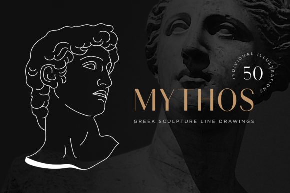 Aesthetic Greek Sculpture Line Art Graphic Illustrations By roughedgessupply