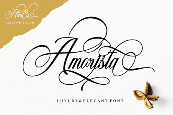Print on Demand: Amorista Script & Handwritten Font By HansCo