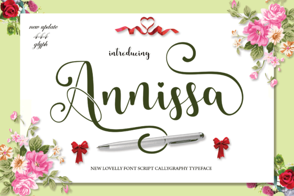 Print on Demand: Annissa Script & Handwritten Font By MYdesign