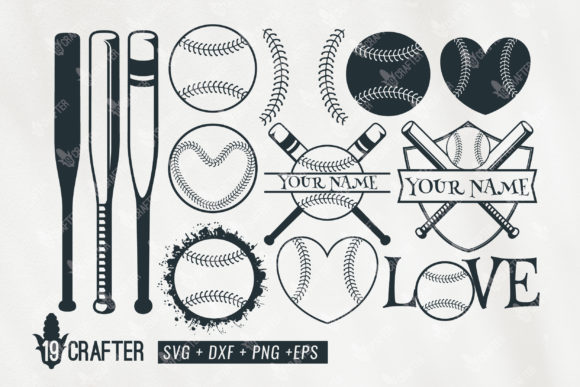 Print on Demand: Baseball Set  Badge Name Graphic Crafts By great19